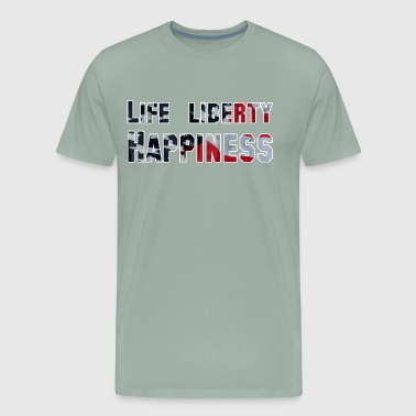 Life Liberty Happiness Patriotic American Graphic - Men's Premium T-Shirt