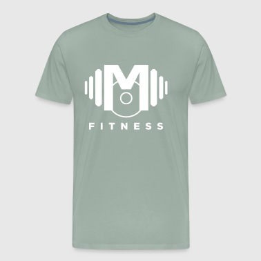 Mo Fitness - White - Men's Premium T-Shirt