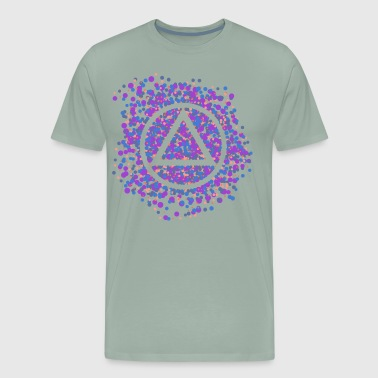 12-Step Recovery Triangle-circle Color Spatter - Men's Premium T-Shirt