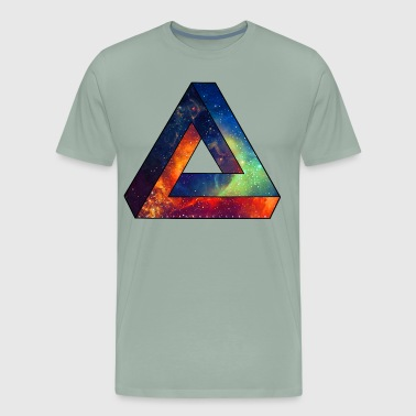 Unique Spacy Impossible Triangle - Men's Premium T-Shirt