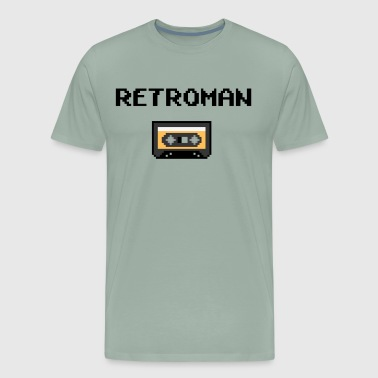 Old School Tape retro man - Men's Premium T-Shirt