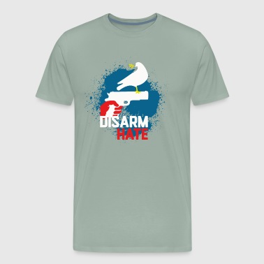 Disarm Hate. Stop War. - Men's Premium T-Shirt