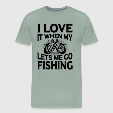Bite Me Fishing Lets Me Go Fishing Shirt - Men's Premium T-Shirt