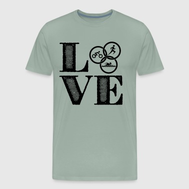 Triathlon Love T Shirt - Men's Premium T-Shirt
