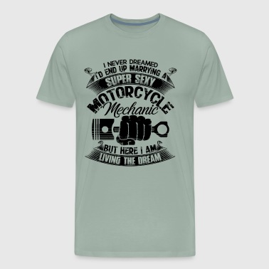 Super Sexy Motorcycle Mechanic Shirt - Men's Premium T-Shirt