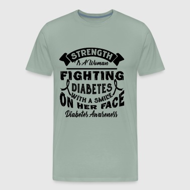Fighting Diabetes With A Smile Shirt - Men's Premium T-Shirt