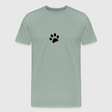 single 3-D paw black - Men's Premium T-Shirt