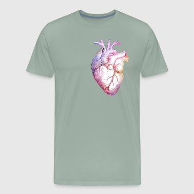 Anatomical Heart with colors - Men's Premium T-Shirt