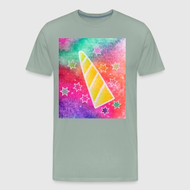 Funny colorful Unicorn Horn - Men's Premium T-Shirt