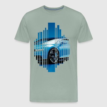 Bugatti chiron in blue - Men's Premium T-Shirt