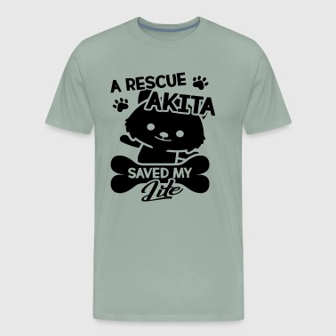 Rescue Akita Saved My Life Shirt - Men's Premium T-Shirt