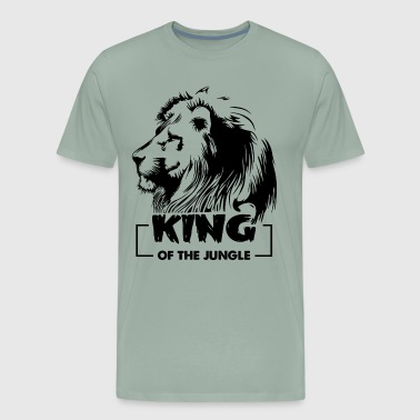 Lion Is King Of Jungle Shirt - Men's Premium T-Shirt