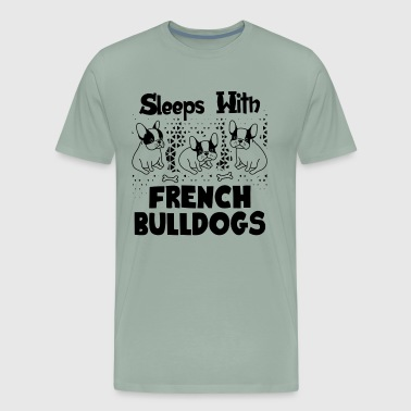 Sleep With French Bulldogs Shirt - Men's Premium T-Shirt