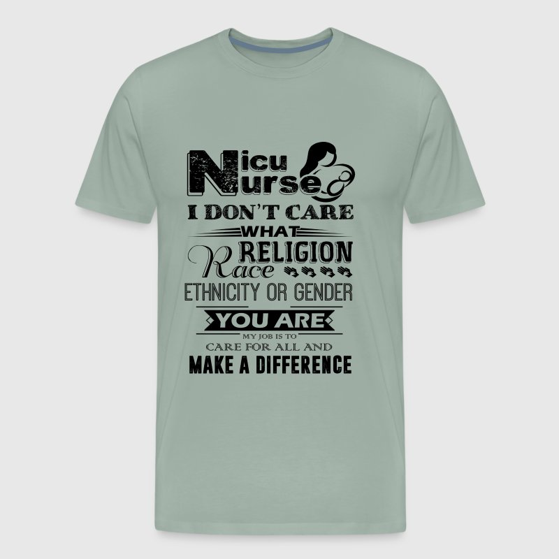 Nicu Nurses Make A Difference Shirt - Men's Premium T-Shirt
