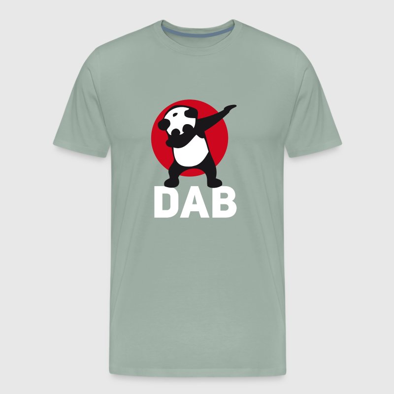 dab panda red DAB panda dabbing football touchdown - Men's Premium T-Shirt