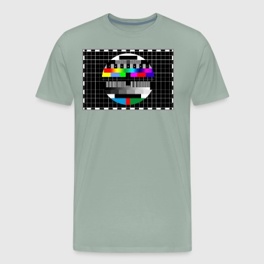 RGB & BW TV Test Card/Screen Pattern - Men's Premium T-Shirt