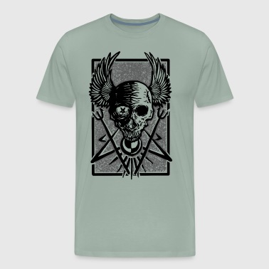 Skull luminous Darkness - Gothic - Men's Premium T-Shirt