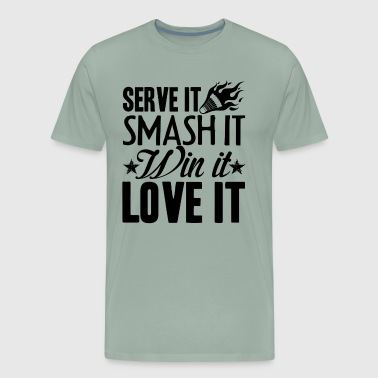 Serve And Love Badminton Shirt - Men's Premium T-Shirt