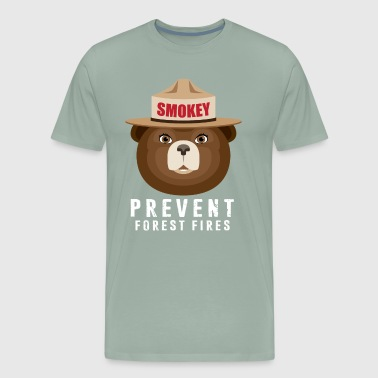 A BEAR SMOKEY PREVENT FOREST FIRES T-STIRT - Men's Premium T-Shirt