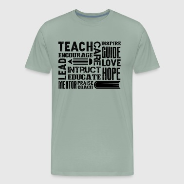 Teacher Encourage Subway Shirt - Men's Premium T-Shirt