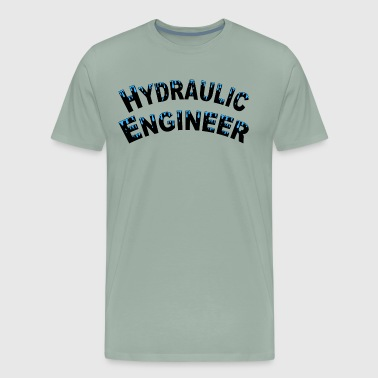 Water Drop Hydraulic Engineer Water Droplets - Men's Premium T-Shirt