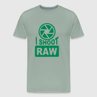 I Shoot Raw Photography Camera - Men's Premium T-Shirt