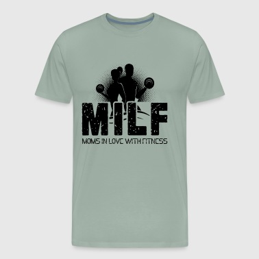 Milf Moms In Love With Fitness Shirt - Men's Premium T-Shirt