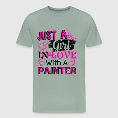 Just A Girl In Love With A Painter Shirt - Men's Premium T-Shirt