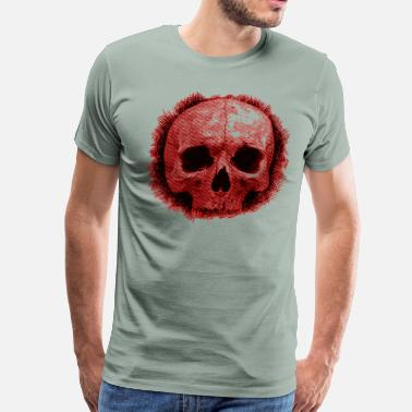 Skull Scribble - Men's Premium T-Shirt