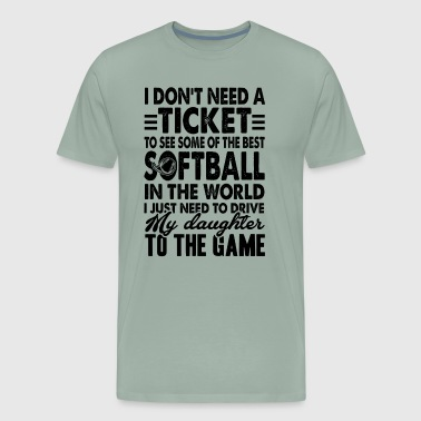 Softball My Daughter Play Softball - Men's Premium T-Shirt