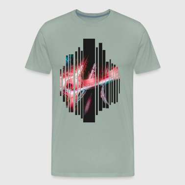 Road from above by night - Men's Premium T-Shirt