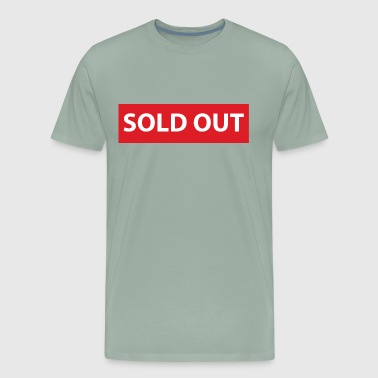 Swag Style SOLD OUT design red horizontal minimalistic - Men's Premium T-Shirt
