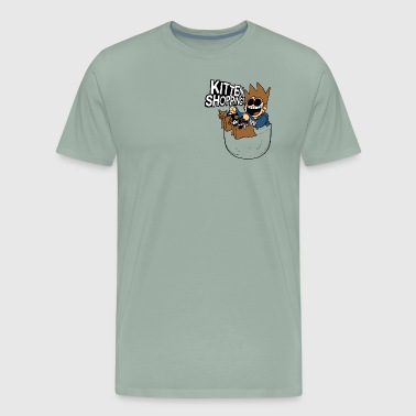 Eddsworld Kitten Shopping Pocket - Men's Premium T-Shirt