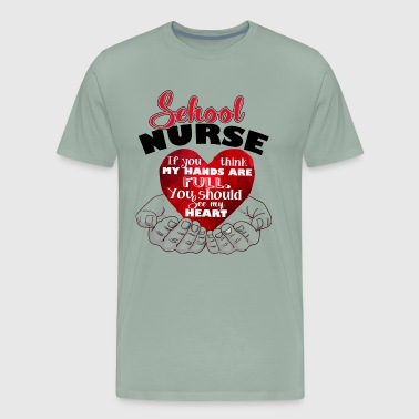 School Nurse Full Heart Shirt - Men's Premium T-Shirt
