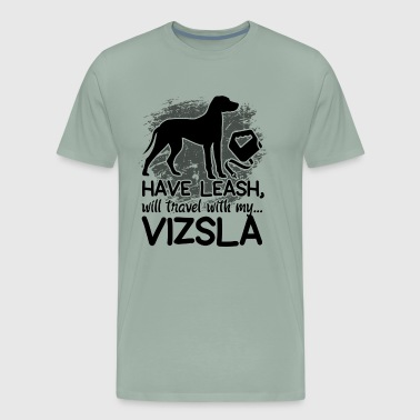 Vizsla Travel Leash Shirt - Men's Premium T-Shirt