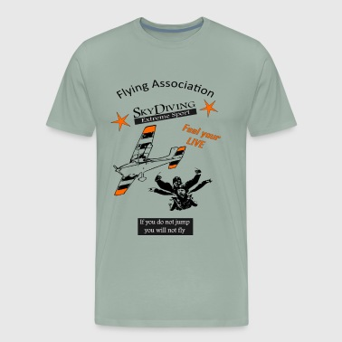 Flying Association Sky Diving Extreme Sport - Men's Premium T-Shirt