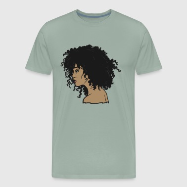 My Afro - Natural Hair - Afrocentric Gift - Men's Premium T-Shirt