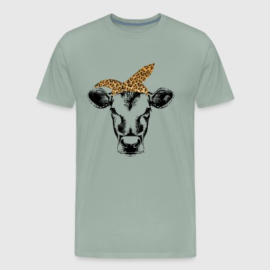 Cow bandana leopard cute shirt for women and girl - Men's Premium T-Shirt