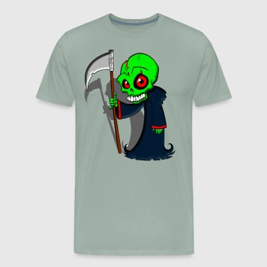 cartoon zombie reaper - Men's Premium T-Shirt