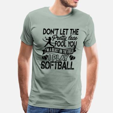 I Love Softball I Play Softball Shirt - Men's Premium T-Shirt