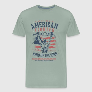American Fighter - King of the Ring - Men's Premium T-Shirt