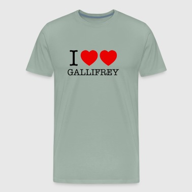 I HEART HEART GALLIFREY - Men's Premium T-Shirt