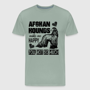 Afghan Hound Make Me Happy Shirt - Men's Premium T-Shirt