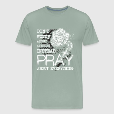 Christian Art Rosary Christian Prayer Christianity - Men's Premium T-Shirt