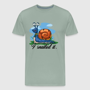 Snail I Snailed It Shirt - Men's Premium T-Shirt