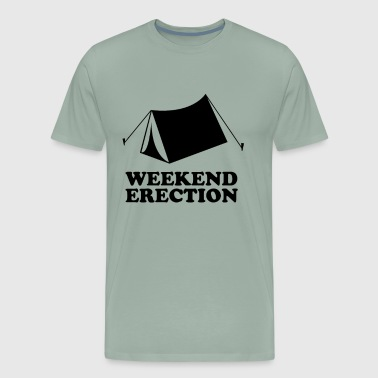 Weekend Erection Funny T shirt - Men's Premium T-Shirt