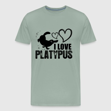 I Love Platypus Shirt - Men's Premium T-Shirt