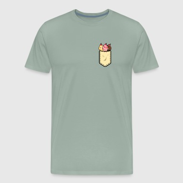 Ice cream pocket cute ice cream gift - Men's Premium T-Shirt