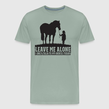 Equestrian Girl Equestrian Women Girls Love Their Horses Gift - Men's Premium T-Shirt