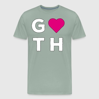 Goth Love Sign Heart Pink - Men's Premium T-Shirt